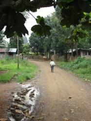 Entering Village