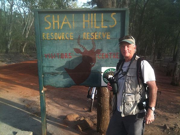 George Miller at our first birding site - Shai Hills, near Accra, the capital of Ghana