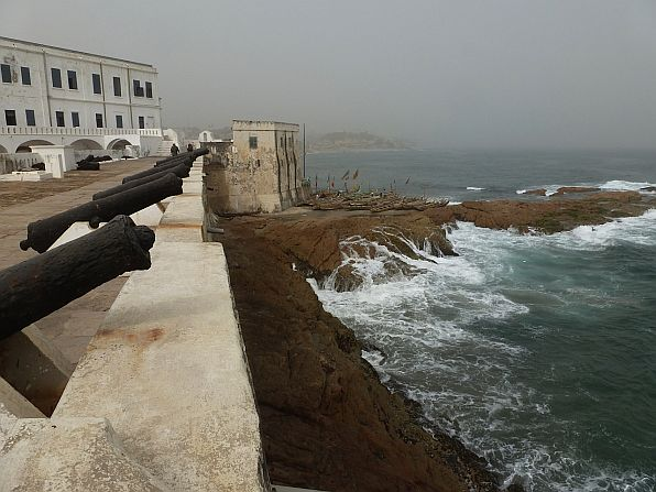 Cape Coast Castle - the monument to inhumanity was visited by Barack Obama and his family in 2009