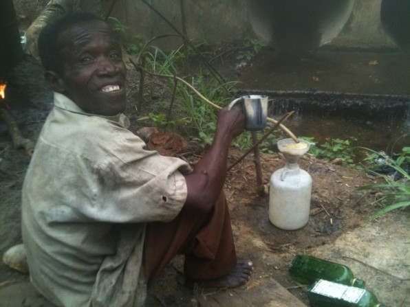 Palm Wine (nsafufuo) still.