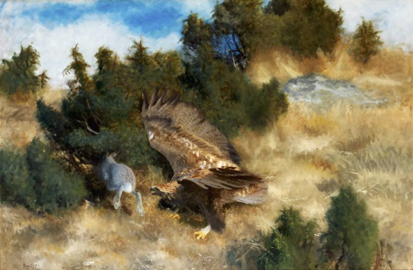 Eagle and Hare, 1924, oil on canvas