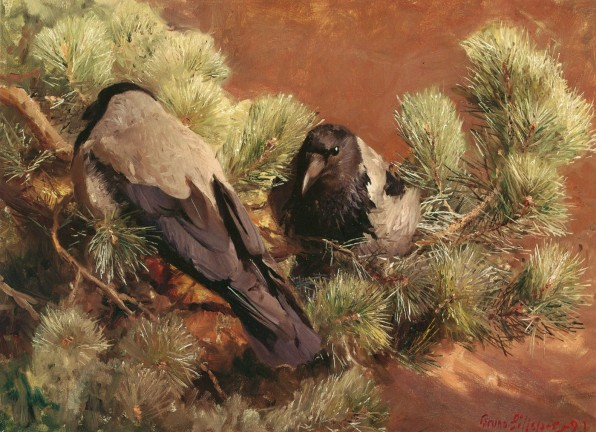 Hooded Crows, 1891, Gothenburg Art Museum, oil on canvas