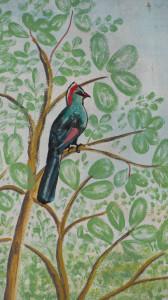 turaco mural