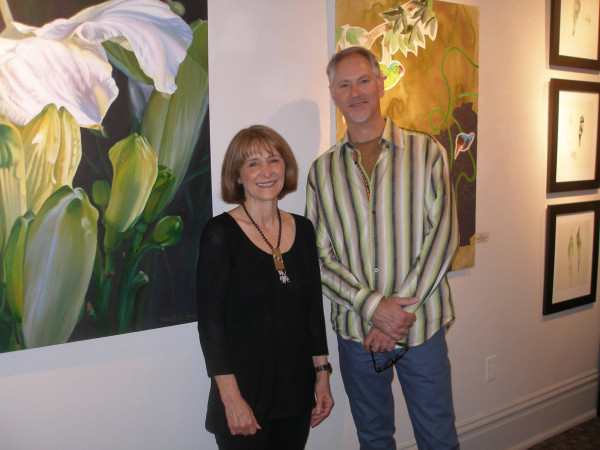 Maura Koehler Keeney and I at the IUP Art Museum opening reception.